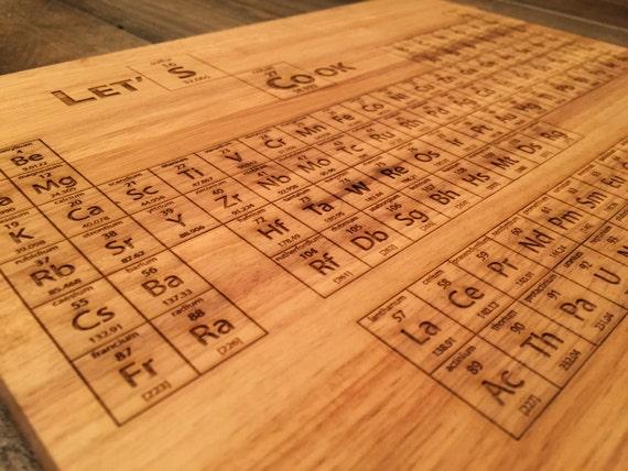 Breaking bad periodic table cutting board laser engraved - Periodic table chopping board ...