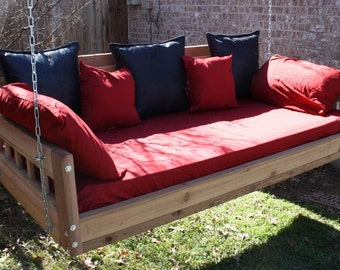 Brand New Cedar Daybed Swing in American style, King Size Swinging Bed with Hanging Chain or Rope - Free Shipping