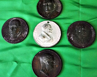 Lot of 5 US Presidents medals-(1411-135)