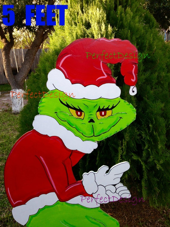 Grinch stealing the christmas lights lawn yard art decoration decor 5