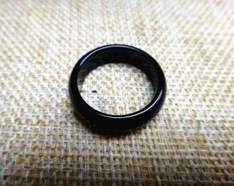 Natural obsidian ring couple ring (inner diameter 7-9)