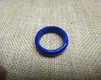 15.1MM Natural Afghan  Lapis lazuli good luck ring(U.S. ring size:4 1/4 )
