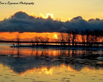 Wilcox Point sunrise (Landscape, Nature, Sunrise, Fine Art Photography)