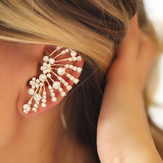 cartilage earrings rhinestones earrings by trinketmart