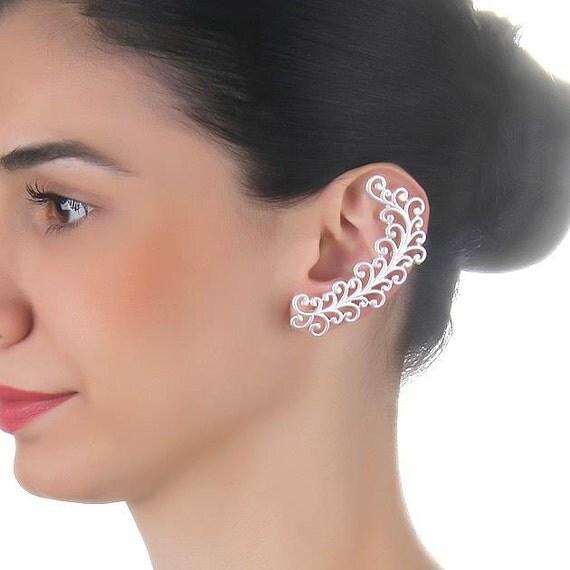 cartilage earrings silver unique earrings helix by trinketmart