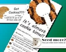 girl scout cookies promotional material door hangers