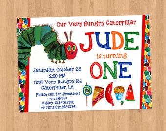 Very Hungry Caterpillar Birthday Invitation Printable