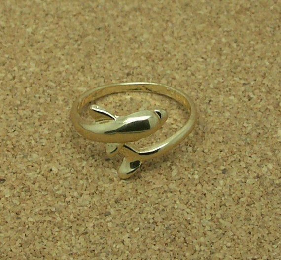 dainty gold dolphin ring rb602 by starhillboutique on etsy