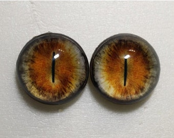 02016 Taxidermy Glass Eyes -  Cabochons for Steampunk, Jewelry, Pendant, Toys, Dolls. Hemispherical