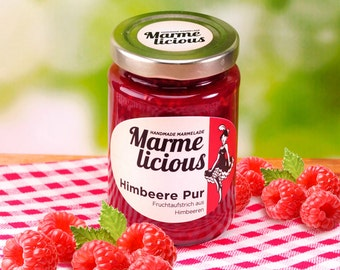 Pure raspberry jam fruit spread