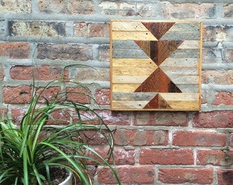 Reclaimed Wood Lath Wall Art Salvaged Chicago