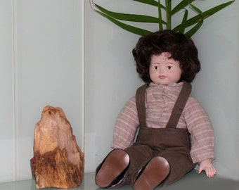 Beautiful doll from the 50's . Porcelain Doll Craft for dollhouse Made in Germany
