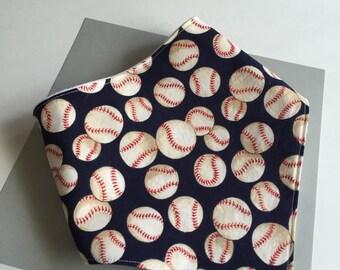 Baseball baby bandana drool bib