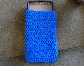 Crochet cell phone sock custom fit,  cell phone case