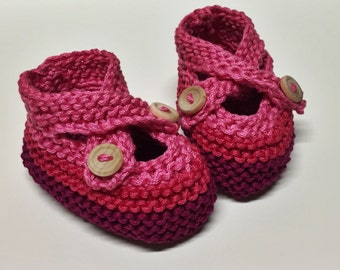 Cross-over Button Fastening Baby Shoes