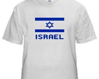 Israel Cool Flag White T-Shirt All Sizes