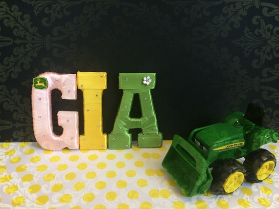 John Deere Decor Name Letters For Nursery By