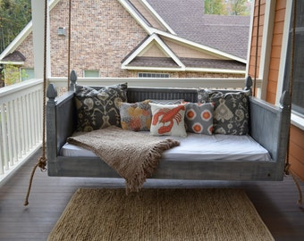 Classic Distressed finish Porch Bed Swing