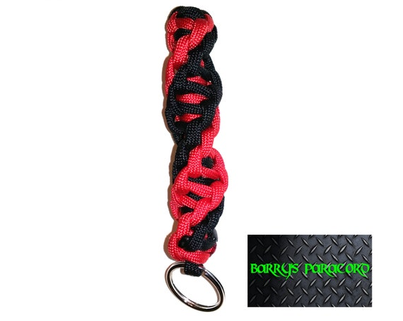 two color dna strand keychain paracord keychain by