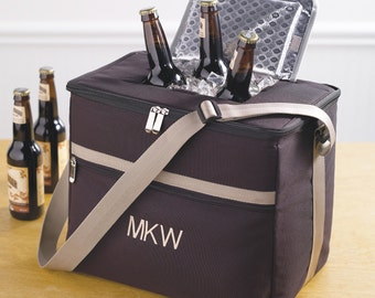 Soft-Sided Beverage Cooler with Shoulder Strap (g118-1162) - Free Personalization