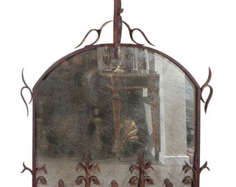 Antique Iron Mirror