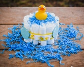 Duck Themed Diaper Centerpiece for Baby Shower ~ Rubber Duck Diaper Gift