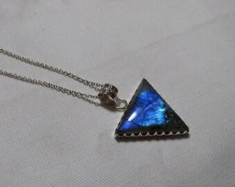 Labradorite pendant - Natural Flashy Color Pendant Fancy Triangle shape Pendant
