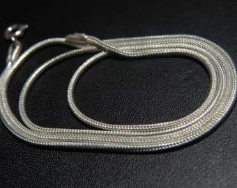 92.5 Sterling Silver Snake Chain size for The Chain 1 mm 16 Inches Long