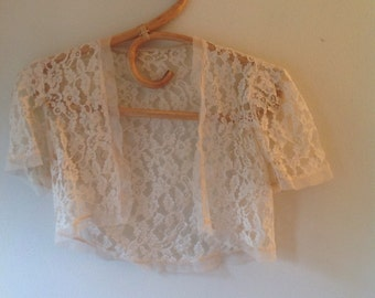 1930s vintage lace bolero, summer jacket