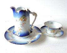 R&C Rosenthal tea set,antique tea set with a creamer, tea cup with a saucer set and a creamer, 1900's, Art Nouveau