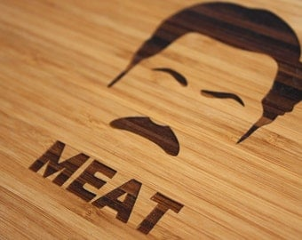 Parks and Recreation, Ron Swanson, Parks and Rec, Ron Swanson Cutting Board, Meat Cutting Board, Parks and Recreation Inspired