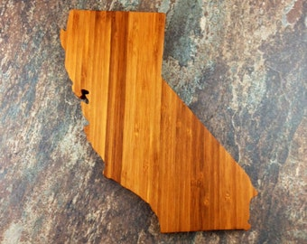 California Cutting Board - Custom Engraved California State Cutting Board - Perfect Wedding Gift, Engagement Gift, Housewarming Gift