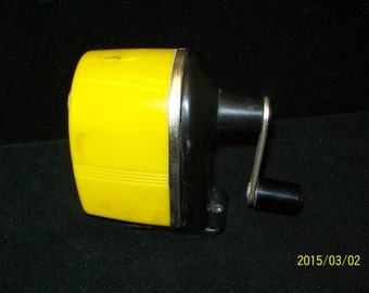 SALE! ! ! Sears 1950s Sunshine Yellow Pencil Sharpener