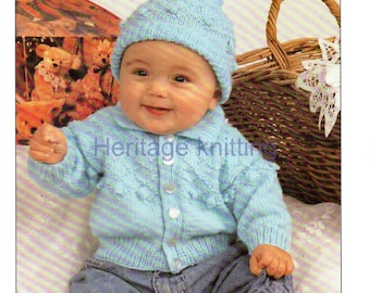 boys jacket and hat dk knitting pattern 99p pdf