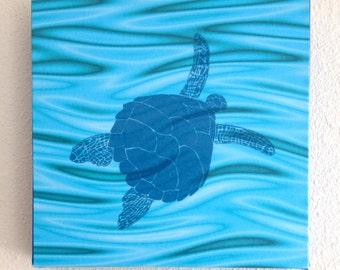 Sea Turtle on Canvas