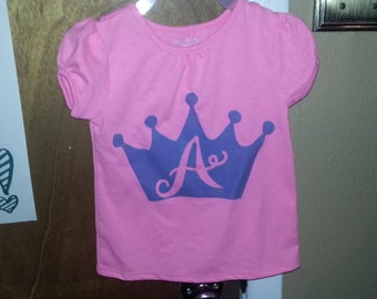 Princess initial shirt