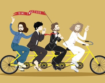 The Beatles Bike Abbey Road Art Print