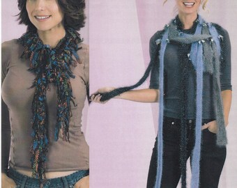 Strip Knitted Scarf Pattern, Knitted Neck Tie Pattern, Knitted Scarves, Trendsetter Yarns Lane Borgosesia Knitted Scarf/Neck Tie Pattern
