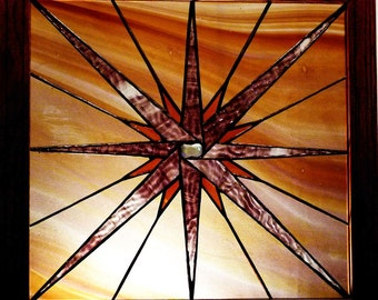 Starburst Stained Glass Hanging Panel