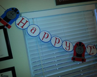 Thomas the Train Birthday Banner personalized with Name