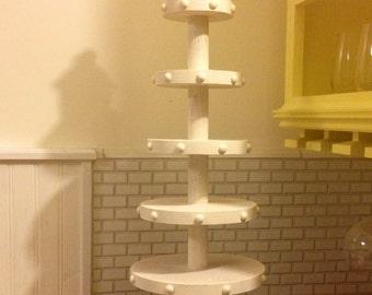 Beautiful Handmade Solid Oak 5 Tier Cupcake Stand