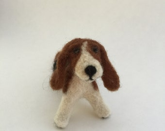 Needle-Felted Basset Hound Sculpture