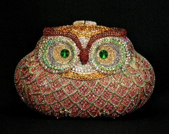 Kaderidge Crystal owl clutch