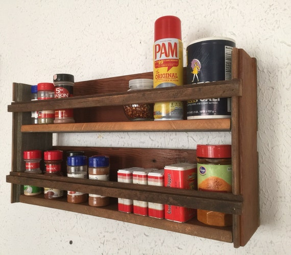 Woodworking Plans For Kitchen Spice Rack: Barn Wood Spice Rack Handmade Barnwood Home By Barnwoodcustom