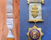 MASONIC Ceremonial Sash and MEDAL R.O.A.B Cleveland Lodge 1944