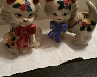 Kitten cats salt and pepper shakers  VA