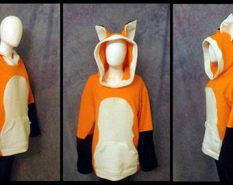 Fleece Fox Hoodie  *Custom Colors Available!*
