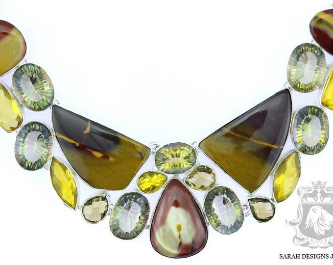 Metaphysical Properties!! Excellent Grade Australian MOOK Jasper 925 SOLID Sterling Silver Necklace