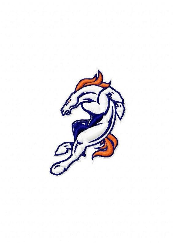 Denver Broncos Logo Machine Embroidery Design