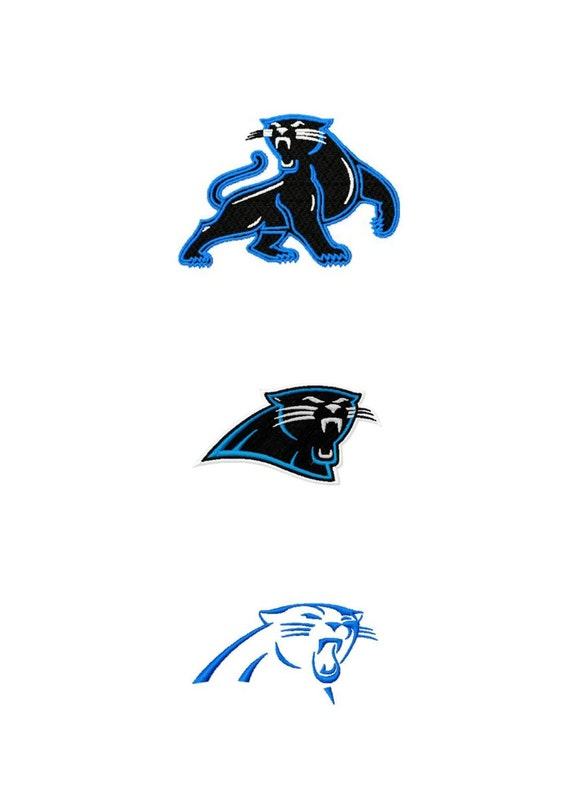 Carolina Panthers logos machine embroidery design by ...